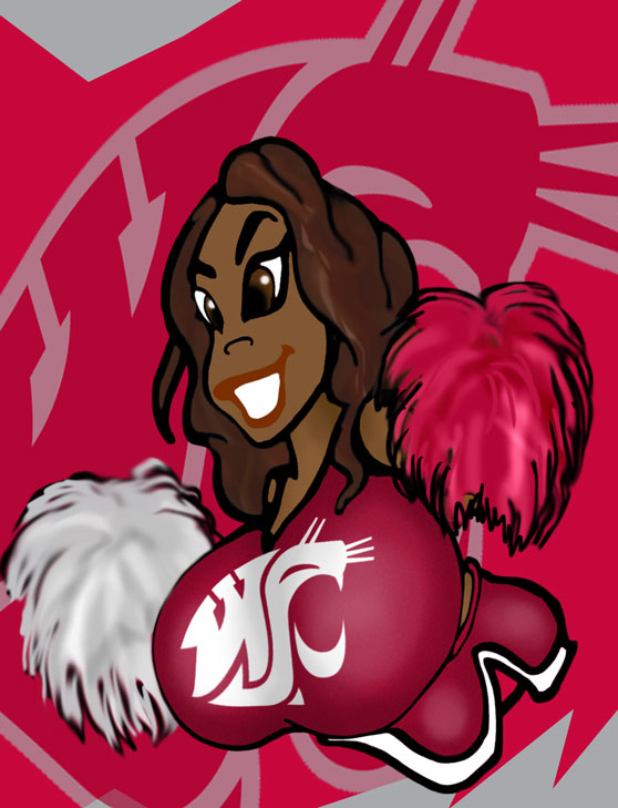 CHEERLEADERS OF THE PAC-12 NO. 6 by Rerwin