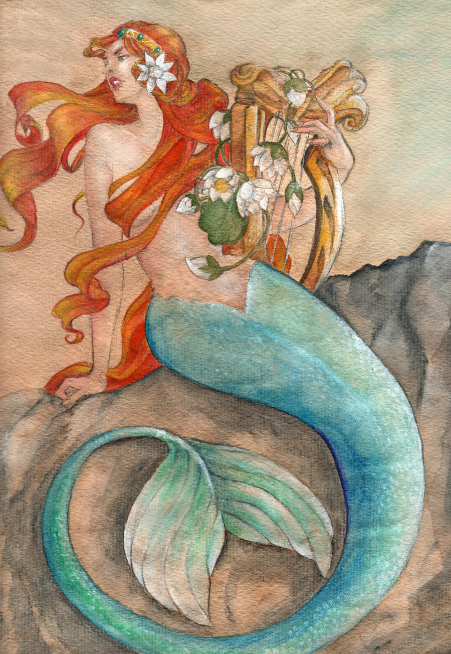 Mermaid in color by llewllaw on DeviantArt