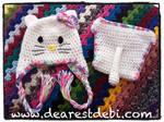 Newborn Hello Kitty Crochet Hat and Diaper Cover
