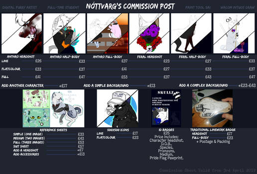Commission Sheet [From April 3rd 2019]