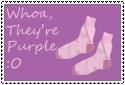 Whoa They're Purple Stamp by GrowlitheArtistGirl