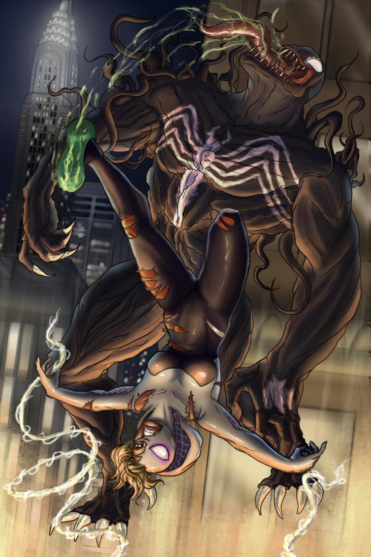 Gwen V. Venom by Bananalog-Clock