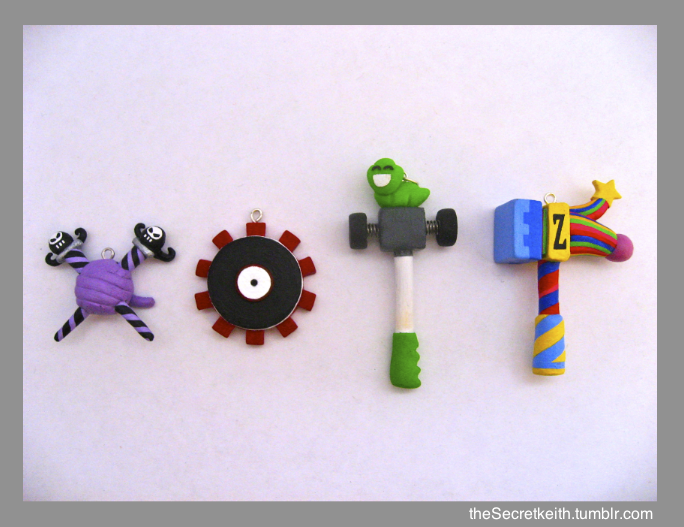 Homestuck Weapon Pendants by sparr0