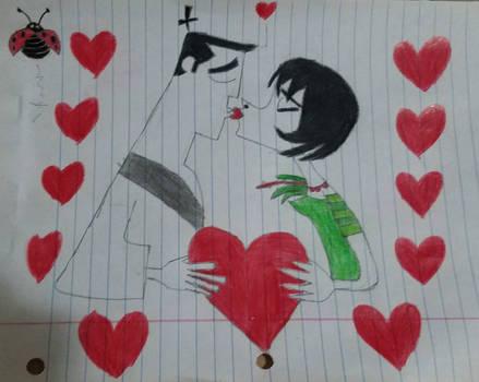 Happy Valentine's Day by Samurai Jack and Ashi