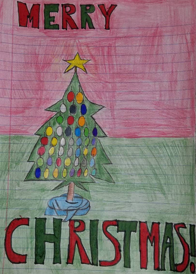 Christmas Tree drawing by FoxaBeeNeeOwnYes