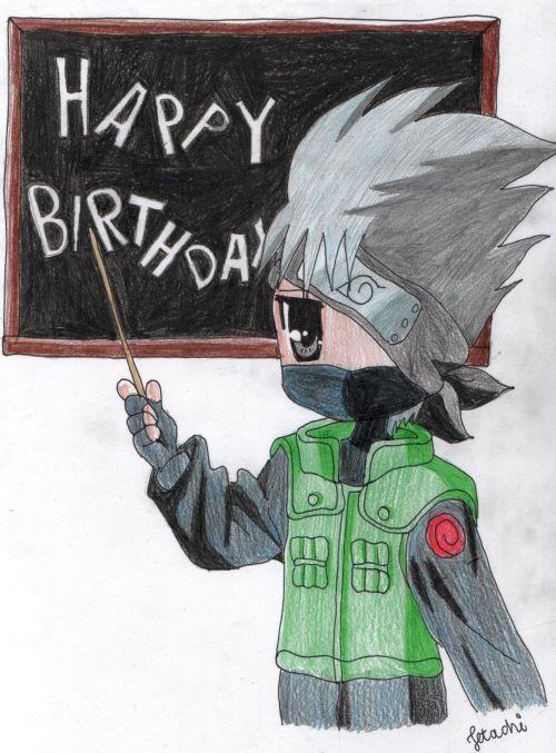Kakashi Writes Happy Birthday By Jetachi On Deviantart