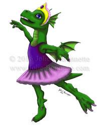 Ballet Dragon by JolieBonnetteArt