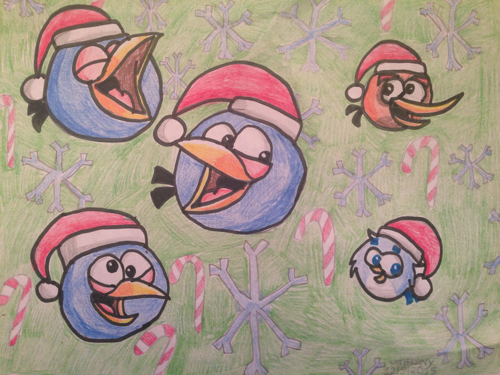 Angry Birds Christmas cuties :3 by ANGRYBIRDSTIFF on ...