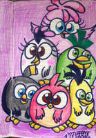 The flock as Hatchlings :3
