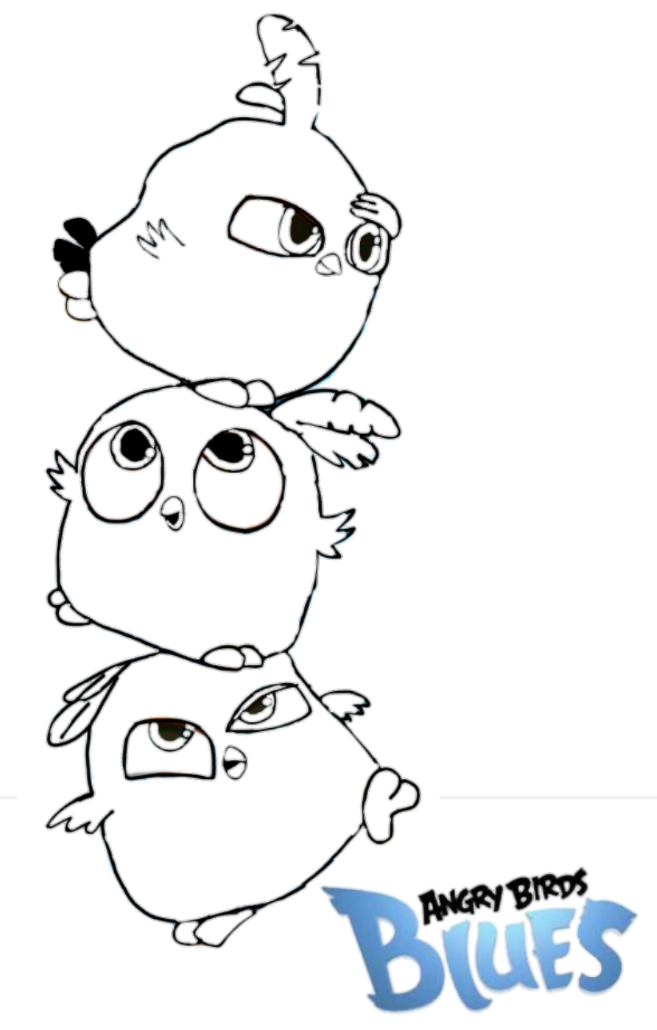 Blues angry birds coloring pages 2 blues best free for Blue angry bird coloring page