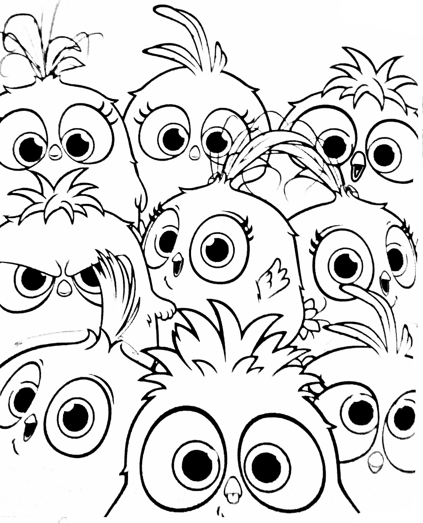 Angry Birds Hatchlings Bunch Coloring Page By Angrybirdstiff On Deviantart