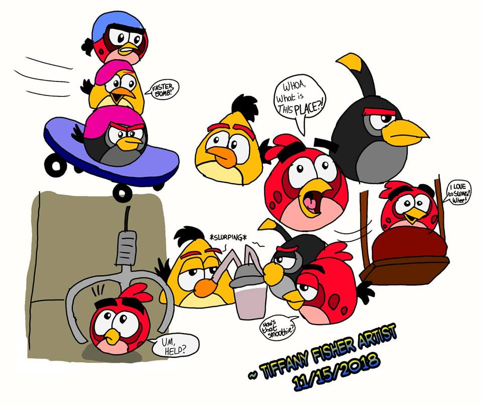 Angry Birds On The Run Doodles By Angrybirdstiff On Deviantart