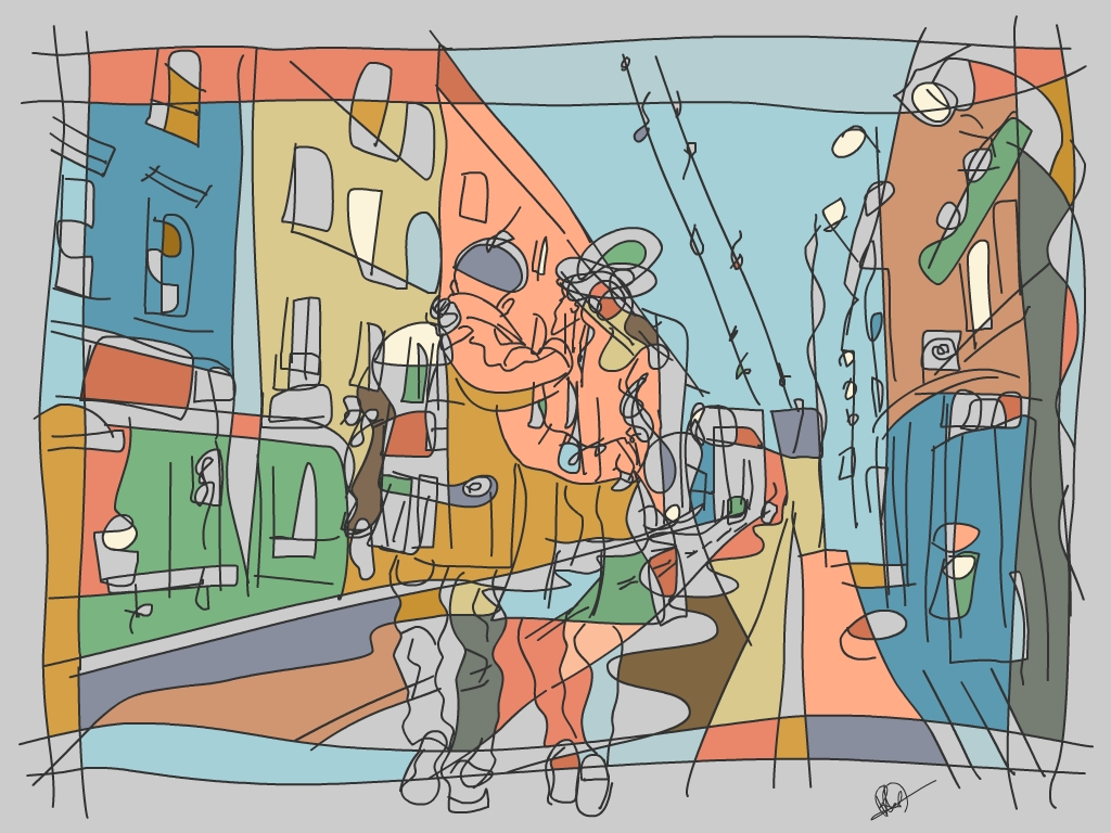 Lovers on The Long Street by PAHalny