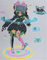 CYB3R-K1TT1 : Arcane Idol by LPAki