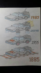 DeLorean Time Machine 1985 - 2015 - 1955 - 1885 by FastCarsNoRules220