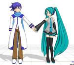 Miku and Kaito love
