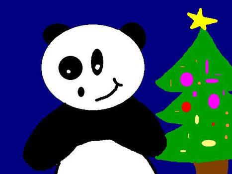 Pandas have christmas