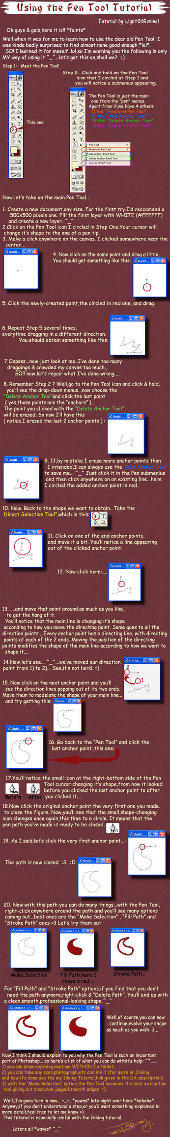 Using the Pen Tool Tutorial. by LightOfRevival