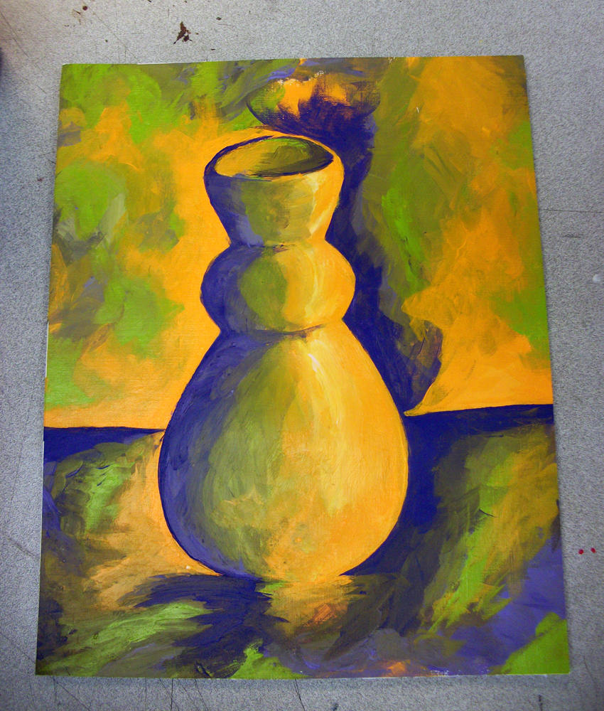 Split Complement Pot Painting By KingMelissa