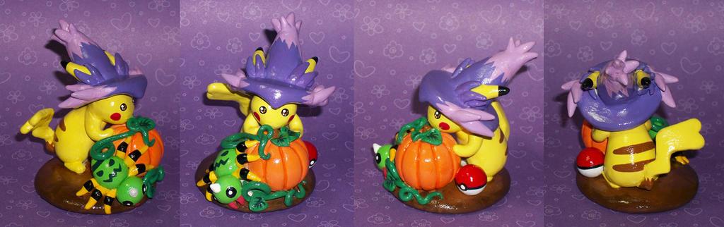 Halloween Pikachu Sculpture by KingMelissa