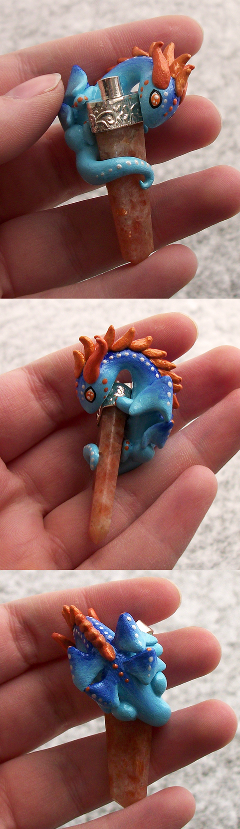 Sunstone Dragon Pendant by KingMelissa