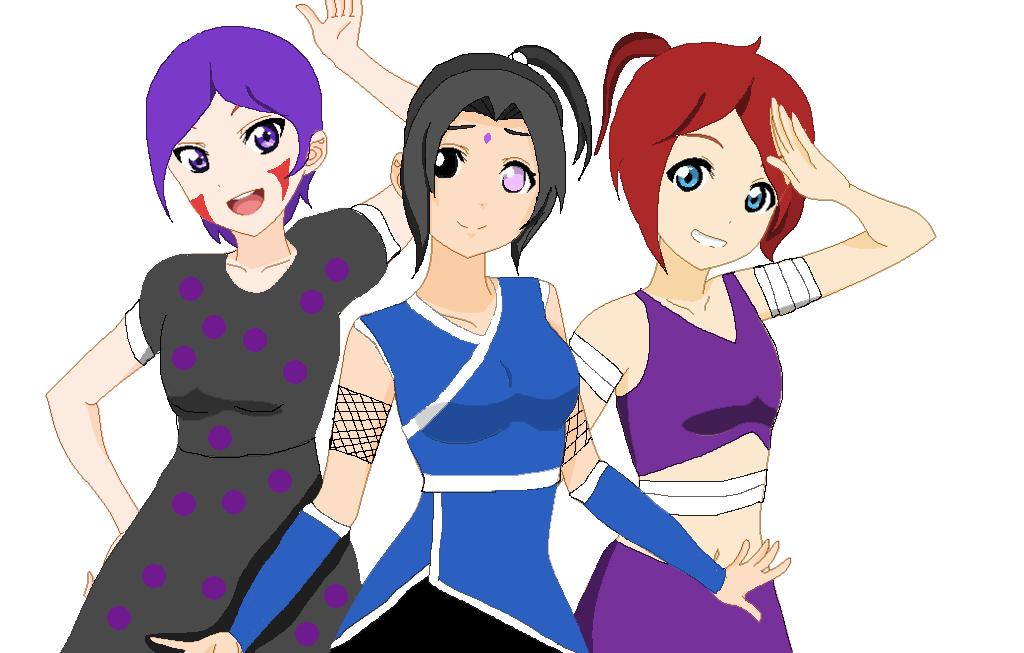 Lana, Dawn and Inokai by YinDawnTsubasa