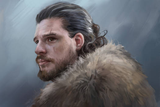 John Snow - Game of thrones Portait/study