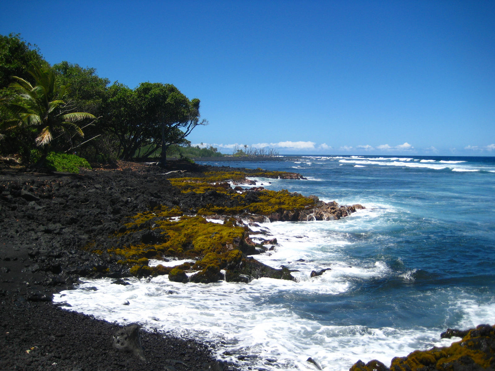 Hawaii black sand beach by tocheeba on deviantart Black sand beach hawaii