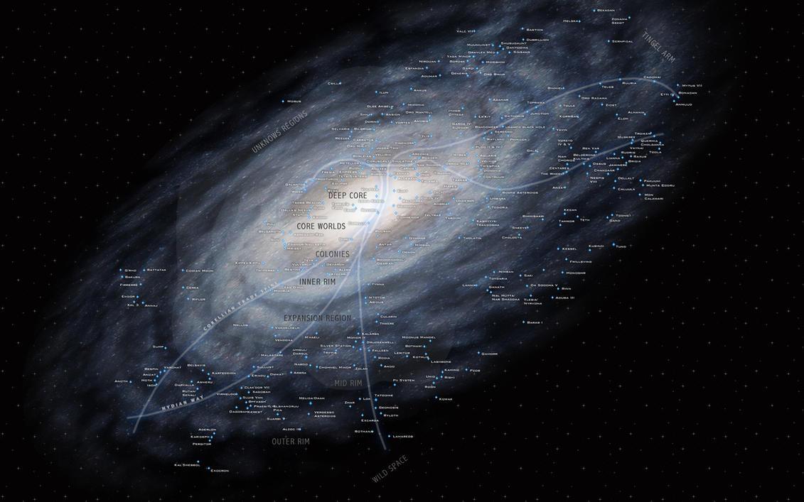 Star Wars Galaxies Wallpaper: Star Wars Galaxy Stellar Map By Kokolico On DeviantArt