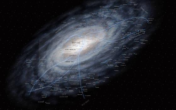 Star Wars Galaxy Stellar Map