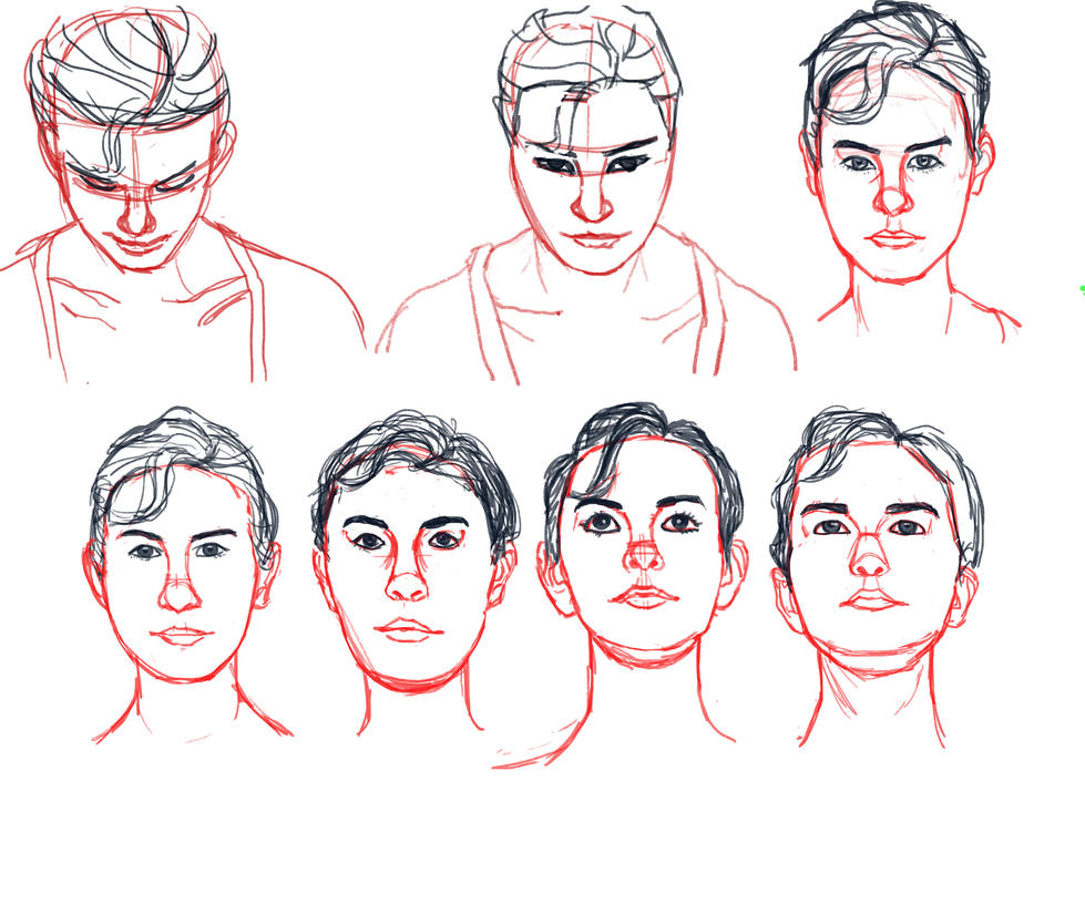 Anatomy Studies: Head Tilt 1 by theashendawn on DeviantArt