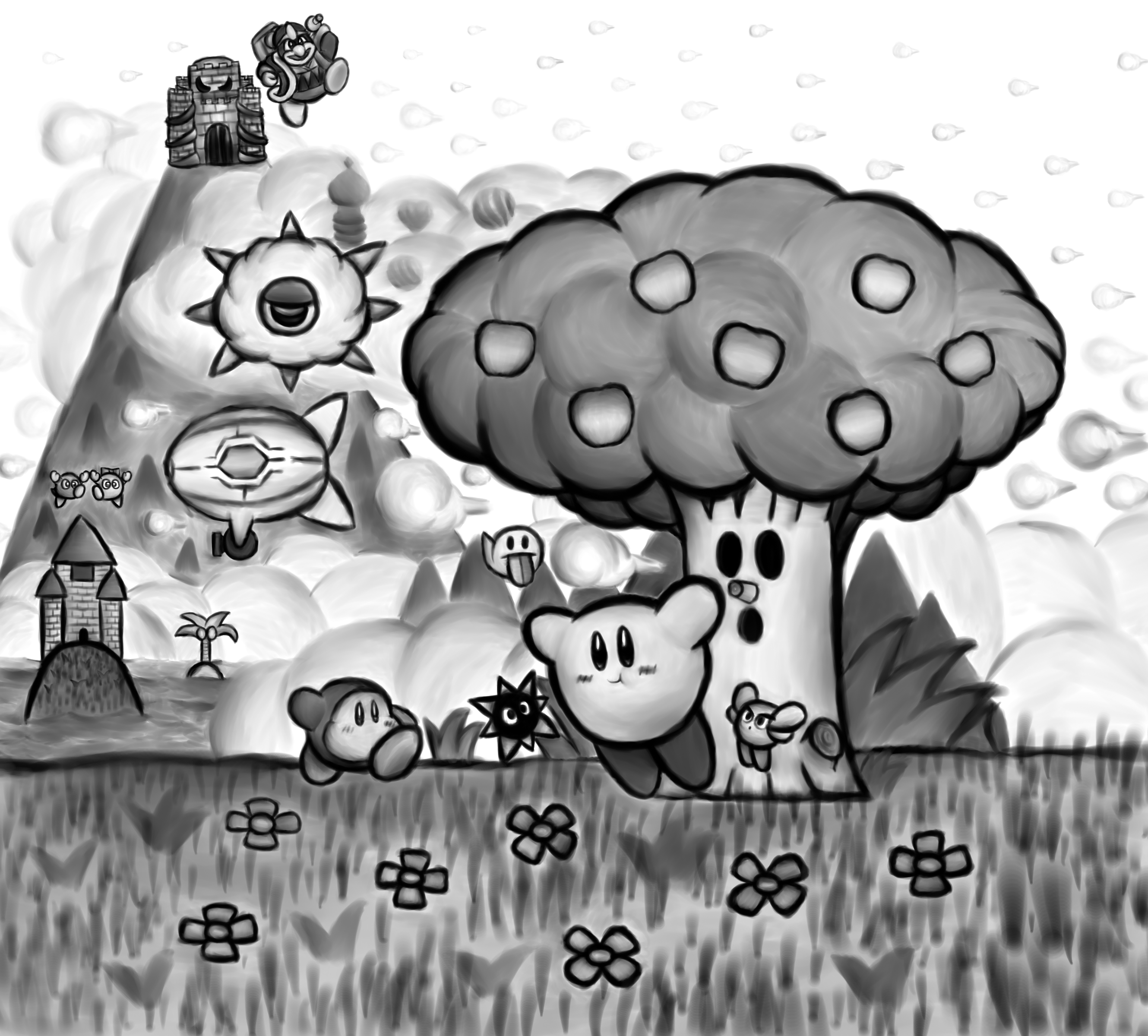 Dreams that Began in Black and White (Kirby 25th)
