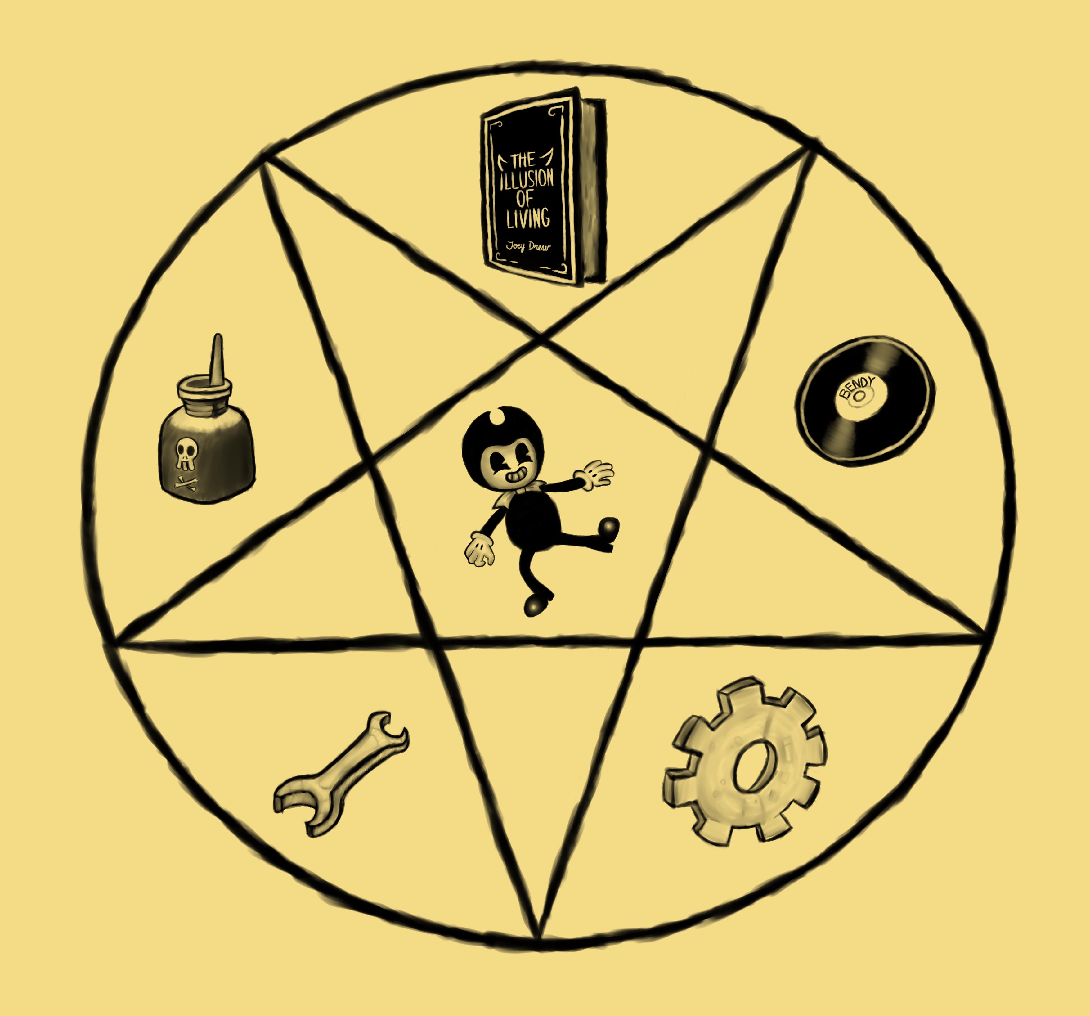 Pentagram Of Bendy Batim Fan Art Contest Entry By