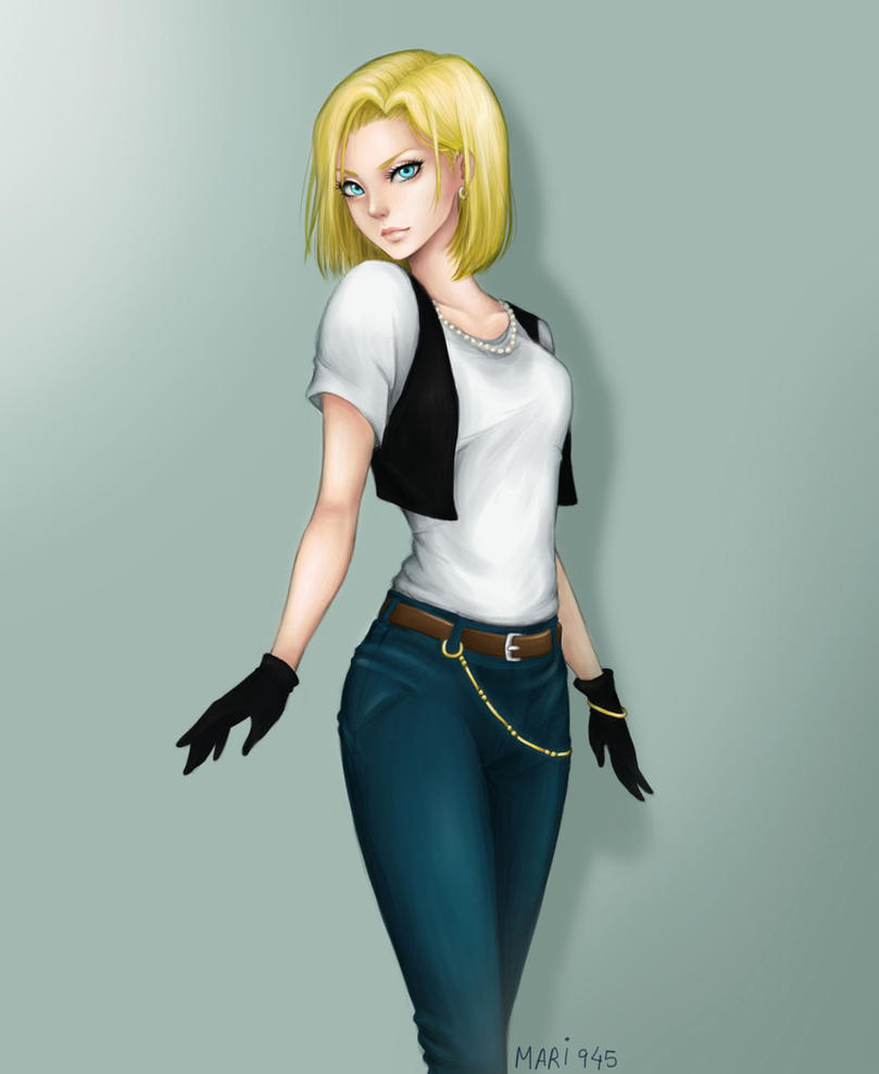 Android 18 And Tail Deviantart: Android 18 By Mari945 On DeviantArt