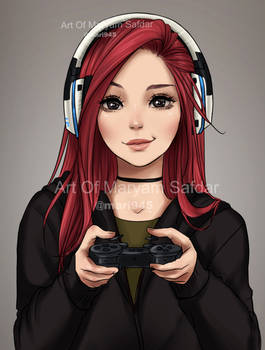 People's Portraits - Gamer by Mari945