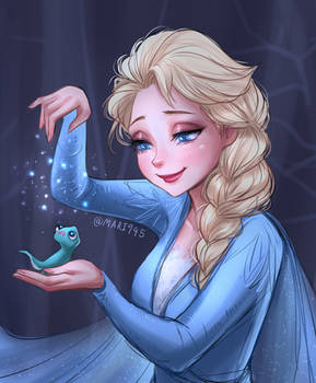 Elsa with Bruni - Frozen 2