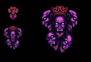 Dracula 2nd Form Sprite Upgrade - Castlevania III by Kradakor