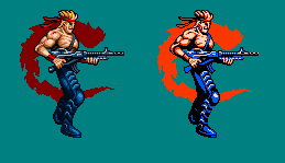 Bill Rizer - Sprite Upgrade by Kradakor