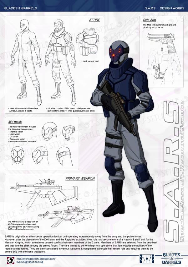 S.A.R.S - design sheet by J-Sty1e