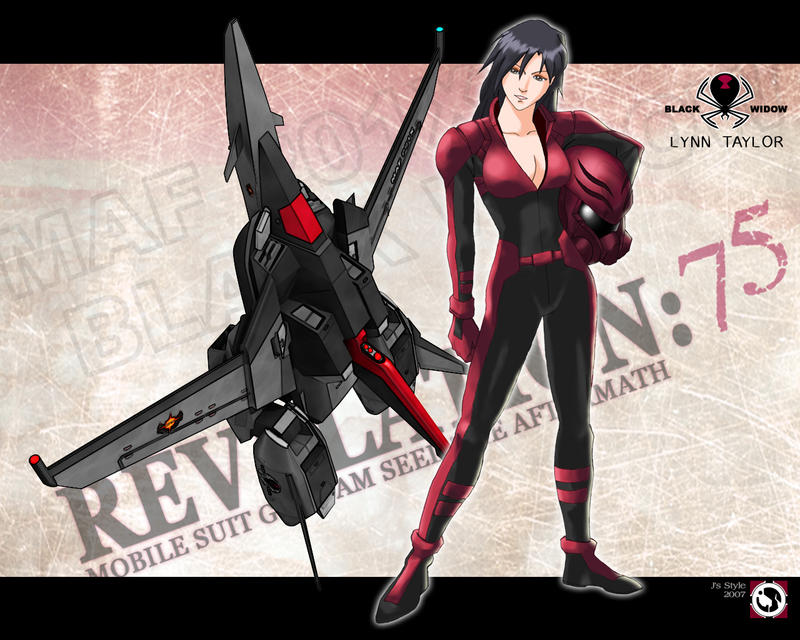 Lynn Taylor   Black Widow   02 by J Sty1e Reanimate The Inner Gundam Inside You: 25+ Formidable Gundam Wallpaper Designs