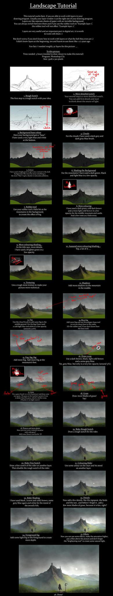 Landscape tutorial by Kimberly-SC