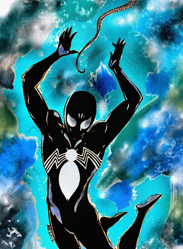 Spider-man in black 2 by nikoskap