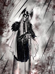 Elric of Melnibone doodle by nikoskap