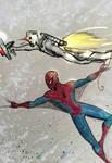 Spider-man/Rom doodle by nikoskap