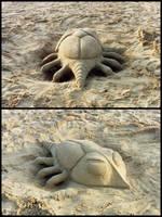 Sand sculpture 03 by AlienDrawer