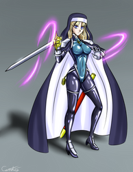 Holy Swordswoman by carrot25