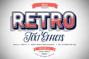 30 Retro Vintage Text Effects - BUNDLE by absolut2305