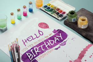 Watercolor Birthday Invitation by absolut2305
