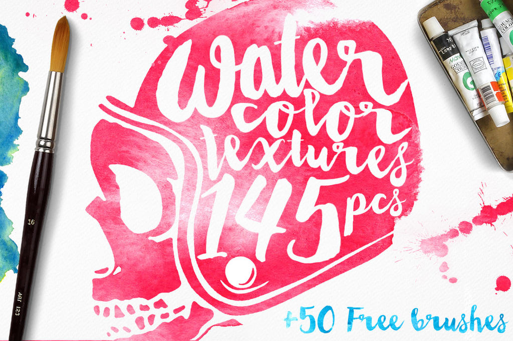 145 Watercolor Textures + BONUS by absolut2305