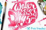 145 Watercolor Textures + BONUS